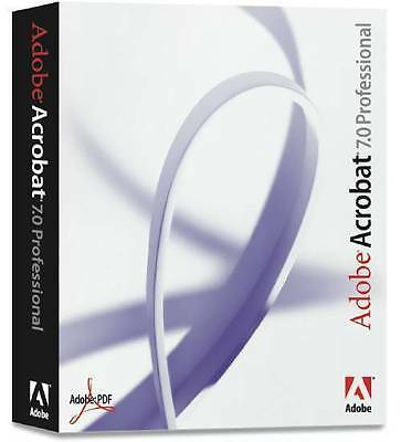 Adobe Acrobat Pro 7.0 | Full Version | Rapid Delivery | genuine product key