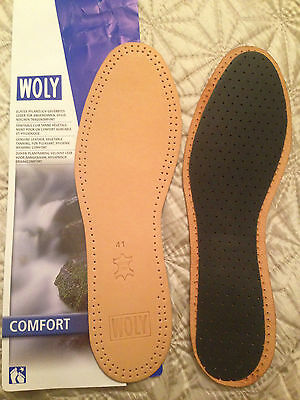 New WOLY & TACCO Leather Latex Insert Insole Size 41 UK 7 8 x3