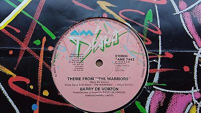 "Barry De Vorzon Theme from The Warriors 12"" single very rare"