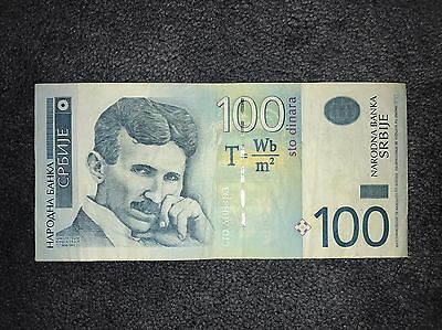 100 Dinar , SERBIA Banknote, World Money, Foreign Currency UNC