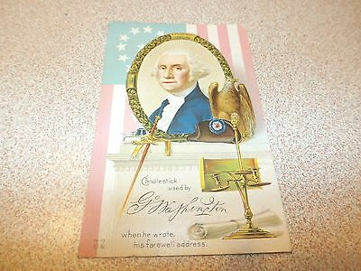 Vintage Postcard Candlestick Used By George Washington 1915