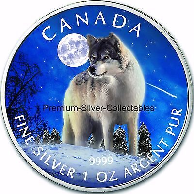 "2011 Canada Wildlife Series, Coin 1 of 6, ""Wolf"" - 1 Ounce Pure Silver .9999!!!!"