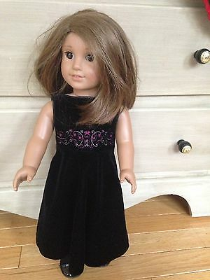 American Girl Just Like Me Doll Brown Hair Pleasant Company Starry Night Dress