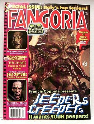 """""""FANGORIA"""" Magazine Issue #206 (2001) JEEPERS CREEPERS, THE OTHERS and more"""