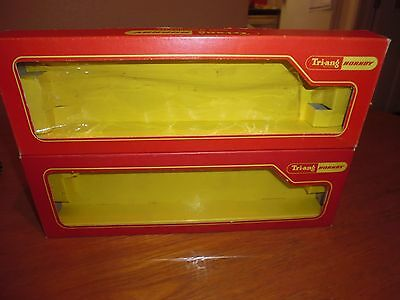 Pair of empty Triang Hornby Coach boxes
