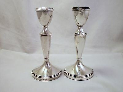 Pair Of Solid Sterling Silver Candlesticks - Birmingham 1968 - 6 Inches
