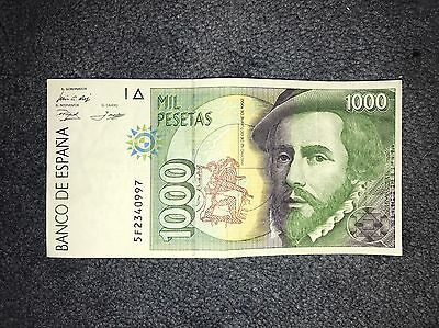 SPAIN 1000 Pesetas Banknotes, Various Foreign Currency, UNC