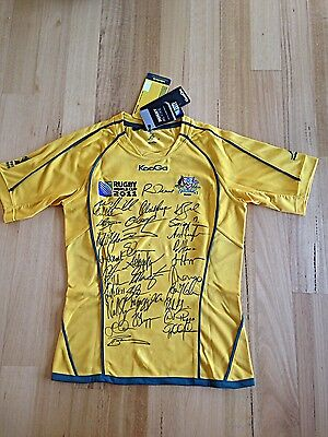 2011 Rugby World Cup Wallabies Squad Signed Jersey