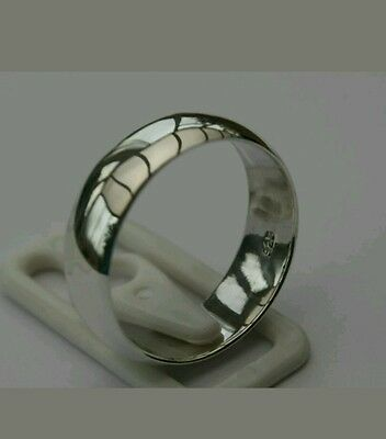 Mens/Ladies 925 Solid Sterling Silver 8mm Wedding Ring/Thumb Ring