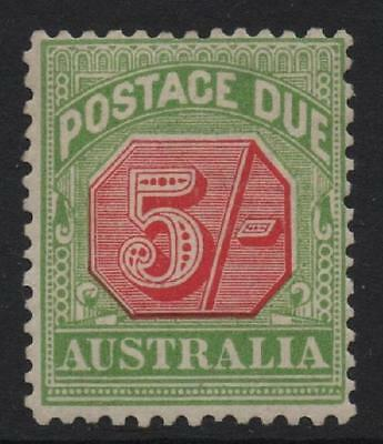 AUSTRALIA 1909-10 POSTAGE DUE 5s SG D71 NH Cat £90