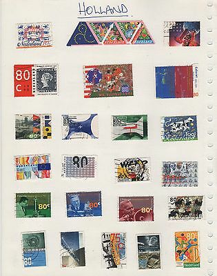 Holland Stamps On 10 Sheets  (1)