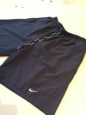 "Nike 9"" Distance Running Dri-fit Shorts - MEDIUM/BLACK - VGC"