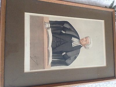 Framed Vanity Fair Print Of A Future Judge