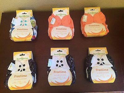 *BRAND NEW* BumGenius Freetime Cloth Diapers (Lot of 6)