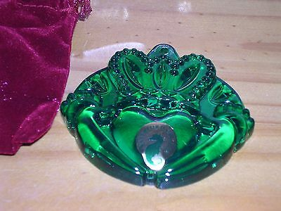 Waterford Crystal ~ 2014 Claddagh Green ~ Christmas Decoration ~ Boxed