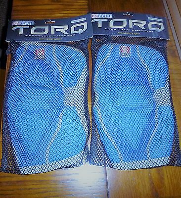 Brand New Brute Torq Wrestling Knee Pads 2 Adult Large Blue!