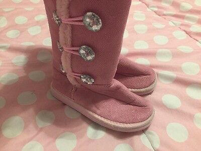 Girls Pink Boots Sz Toddler 12 13 From Zulily