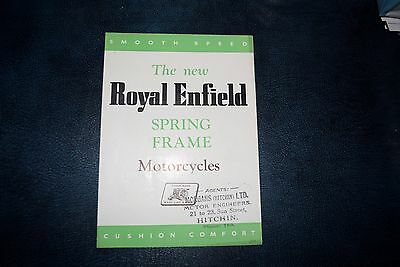 Royal Enfield 500 Twin and Bullet sales Brochure