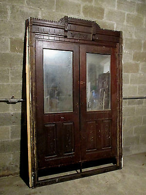 ~ ANTIQUE CARVED WALNUT CLOSET FRONT ~  62 x 95.25 ~ ARCHITECTURAL SALVAGE~
