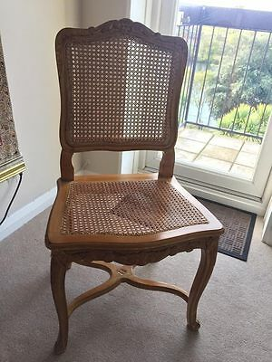 Antique French Style - Solid Wood Dining Chairs - Set of four - Good Quality