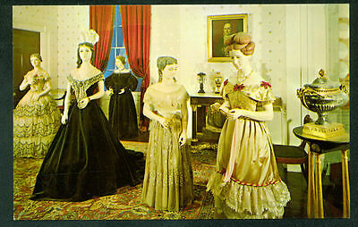 Empire Parlor White House First Ladies Hall Costume Dresses Postcard