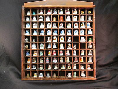 Thimble collection w/cover