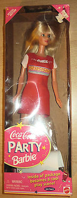 Coca Cola Party Barbie (1998) with Plastic Hairbrush