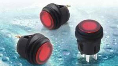 1 X Water Resistant Momentary Push Button Switch Light IP65