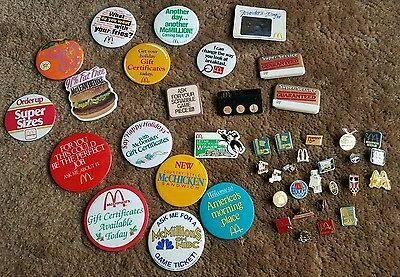 Lot of 1985-1993 McDonald's restaurant pins