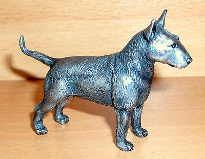 Hand Made Collectable Miniature Pewter Bull Terrier Dog Figurine