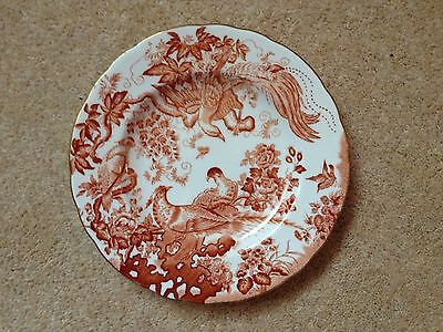 Royal Crown Derby Red Aves Plate 8.25 Inch 21 Cm  First 1St Quality Immaculate