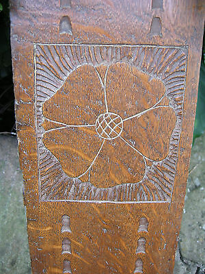 Late 18th Century Oak Carved Panel From Cottage 199cm x 15cm - Superb Condition