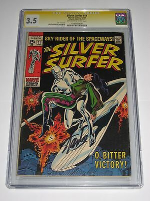 Silver Surfer #11 CGC 3.5 SS Signature Series Signed Stan Lee