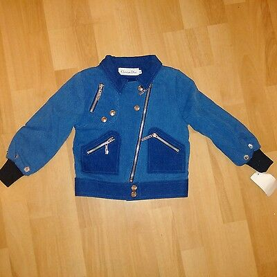 New stunning Christian Dior denim jacket for girls age 4