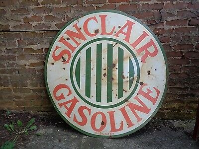 Original Sinclair Gas Oil Porcelain Sign 48""