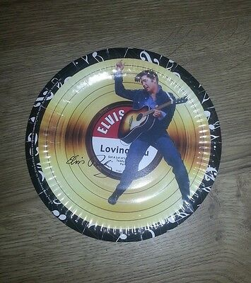 "Elvis Presley Paper Plate. 7"" EP style Licenced product. EXCELLENT CONDITION"