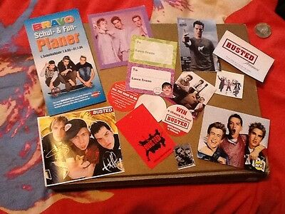 BUSTED goody bag set 7 McBUSTED James Bourne Charlie Simpson matt willis mcFly