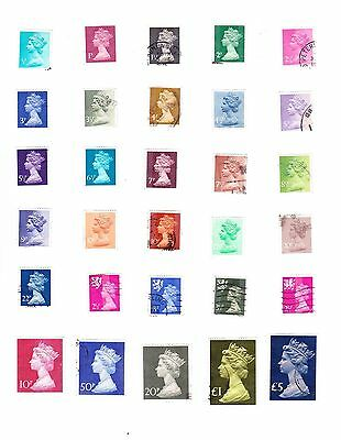 GB GREAT BRITAIN STAMPS QEII MACHIN DEFINITIVES including High Values 1970 &1977
