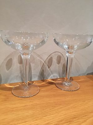 Beautiful Pair Of Geo Waterford Crystal Cocktail Glasses By John Rocha