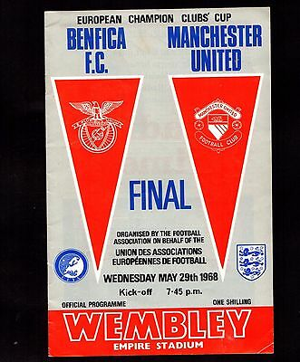 1968 European Cup Final Manchester United v Benfica @ Wembley  POST FREE