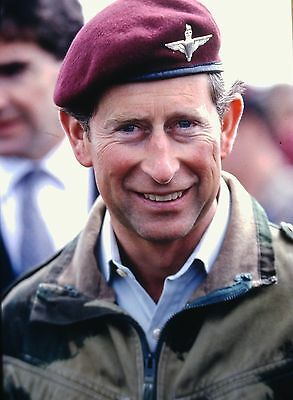 PRINCE CHARLES in Ranville, Normandy - Original 35mm COLOR Slide - 1994