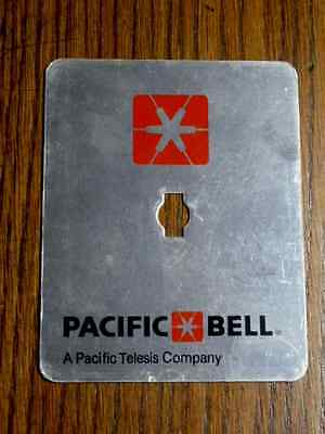 New Pacific Bell Pay Phone Lock Box Cover Vault Door Decal Plate. Excellent Cond