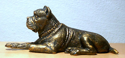 Hand Made Collectable Miniature Pewter Cane Corso Dog Figurine