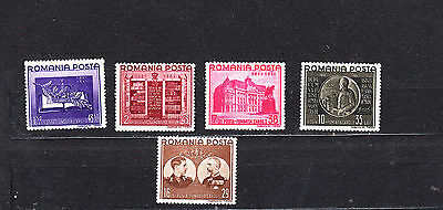 Romania 1941 Carol I Endowment Fund Set Mint Hinged