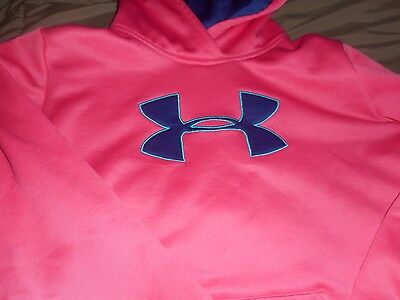 Girls Under Armour Pink/Blue Hoodie  Size YXL