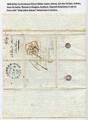 1845 Letter to Missionary Henry Nisbet in Samoa from Scottland