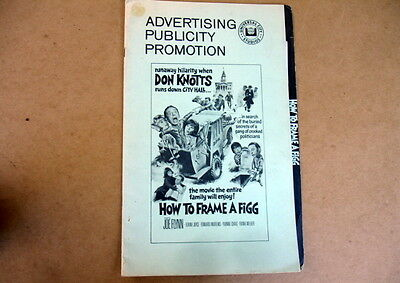 1971 Advertising Publicity Promo Press Book~Don Knotts Film~How To Frame A Figg
