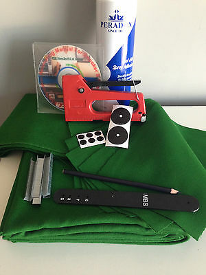 6ft UK Pool Table Recovering Kit & Tutorial DVD (Hainsworth Speed Cloth)