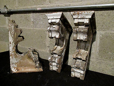~ Set Of 3 Victorian Antique Corbels ~ Chippy Paint ~ Architectural Salvage