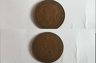 One Penny Coin 1928 George V
